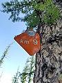 BC Parks Mile (Kilometre) Marker.jpg