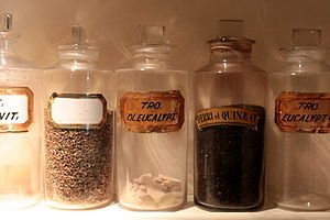 these bottles were stored in the apothecary in...