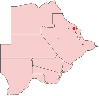 Tutume - Location of Tutume in Botswana