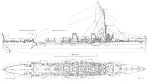 Bahia-class cruiser - Image: Bahia class line drawing