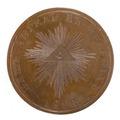 Baksida av bronsmedalj med Illuminati - Skoklosters slott - 99241.tif