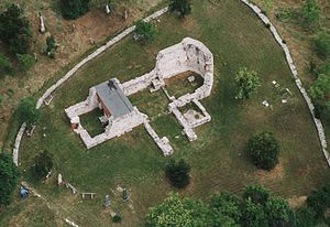 Balatonfüred - Aerial photography: Balatonfüred, ruins