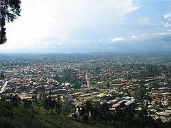Bamenda from the mountain road into town