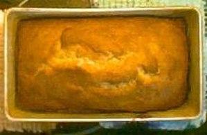 Bread pan - Image: Banana bread in loaf pan