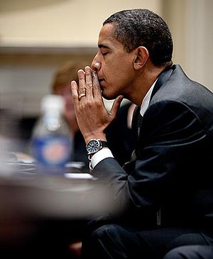 President Barack Obama considers the choices t...