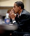 Barack Obama at budget meeting 1-29-09.jpg