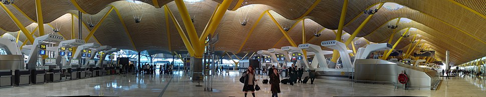 Barajas terminal 4 panorama, Madrid