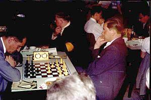 Gedeon Barcza - Barcza (left) vs. Paul Keres, 1961