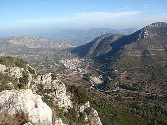 Barx - Image: Barx des del cim de l'Aldaia, a la serra del Buixcarró