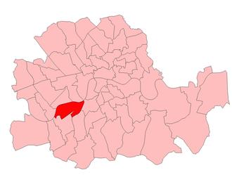 Battersea North (UK Parliament constituency) - Battersea North in London 1918-49
