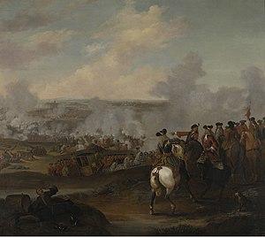 Samuel Shute - Battle of Blenheim by Joshua Ross, Jr., 1715