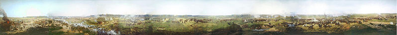 File:Battle of Borodino part of panorama by Franz Roubaud.jpg