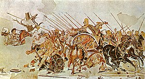 Detail of Alexander Mosaic, showing Battle of ...