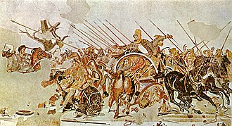 Outline of ancient Greece - Alexander Mosaic showing the Battle of Issus, from the House of the Faun, Pompeii