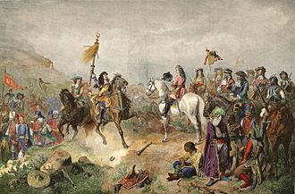 Charles V, Duke of Lorraine - Ludwig Wilhelm of Baden (left) and Charles (right) at the Battle of Mohács