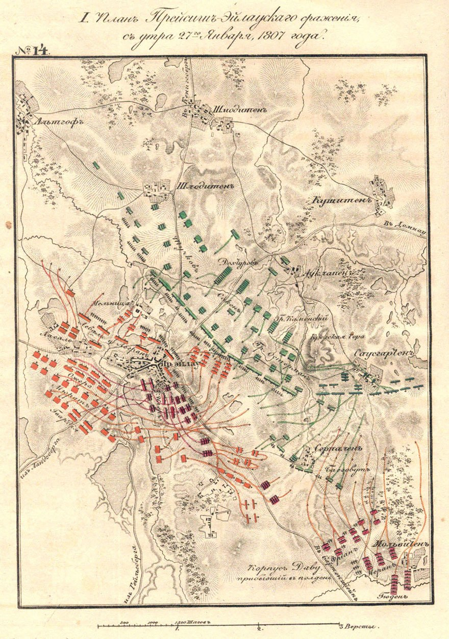 Battle of Preussisch Eylau Map2