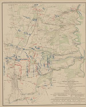 Third Battle of Winchester - Map of the Third Battle of Winchester