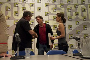 Michael Nankin - Nankin (left) with Richard Hatch and Lili Bordán