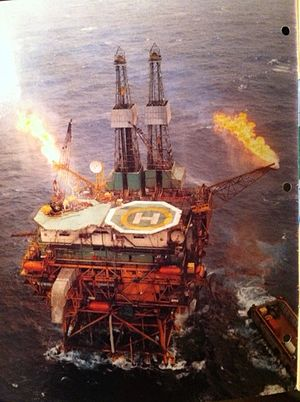 Peter Bawden - A Bawden Drilling North Sea oil rig; circa 1980.