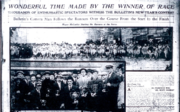 Newspaper account of the first race in 1912
