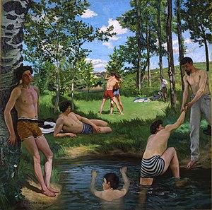 Scène d'été - Image: Bazille, Frédéric ~ Summer Scene, 1869, Oil on canvas Fogg Art Museum, Cambridge, Massachusetts