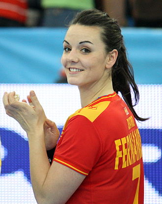 Beatriz Fernández - Image: Beatriz Fernández con la selección española