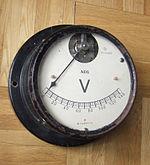 AEG volt-meter designed by Peter Behrens