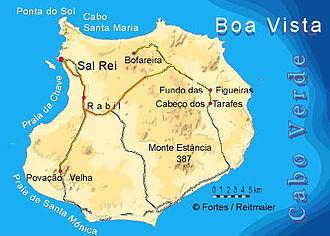 Boa Vista, Cape Verde - Image: Bela vista net Boa Vista map