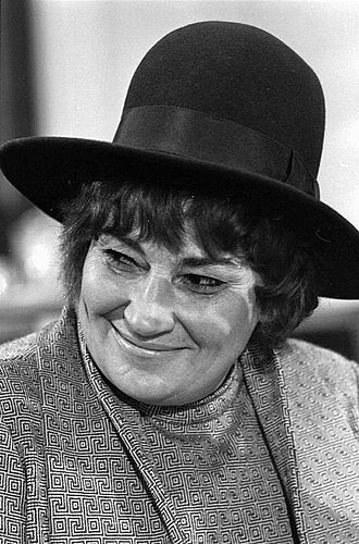 Bella Abzug - Representative Bella Abzug at press conference for National Youth Conference for '72, November 30, 1971.