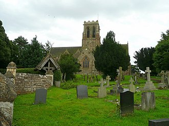 Bernard Collier - Abbots' Graveyard in the Benedictine Belmont Abbey, Herefordshire, a resting place of Bishop Bernard Collier, O.S.B.