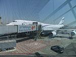 Ben Gurion International Airport אל על 744 מלונדון.JPG