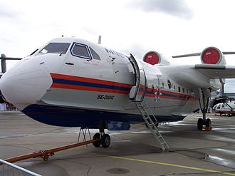 Beriev Be-200 - The Be-200's engines are located high and to the rear in order to keep them clear of spray.