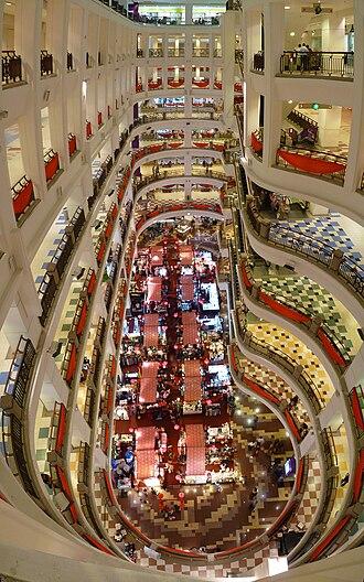 Berjaya Times Square - Main atrium of Berjaya Times Square Kuala Lumpur shopping mall in Feb 2011.