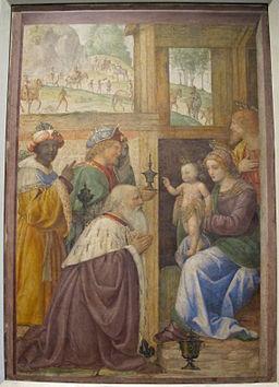 Bernardino luini, adorazione dei magi, 1520-25 ca., da un oratorio a greco milanese 01