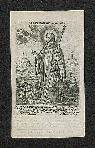 Bernard of Menthon - Image: Bernardus van Menthon (tg uact 666)