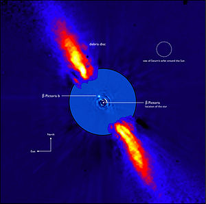 Beta Pictoris b - An annotated view of the Beta Pictoris system.