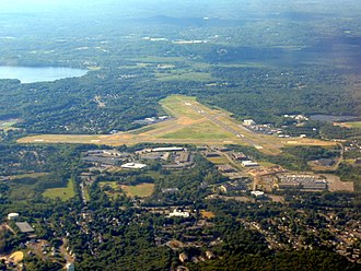 Beverly Regional Airport - Image: Beverly Regional Airport aerial photo, July 2016