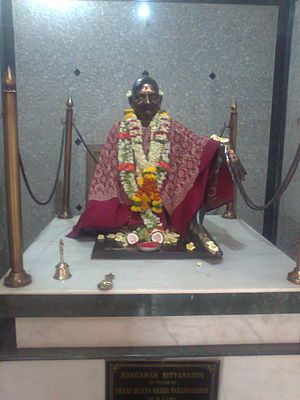 Bhagawan Nityananda - A life size statue of Bhagawan Nityananda at Bunt Bhavan, Mumbai, India