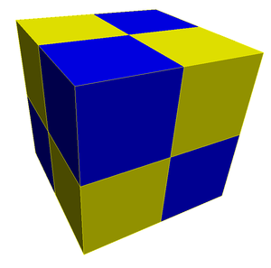 Hypercubic honeycomb - Image: Bicolor cubic honeycomb