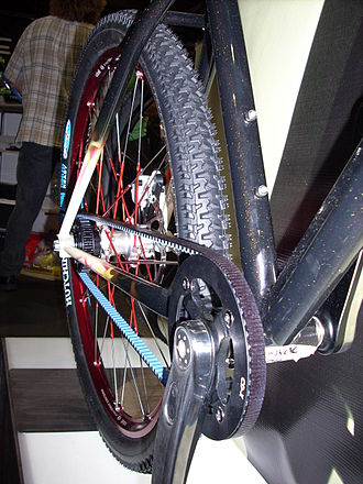 Belt-driven bicycle - Belt-drive