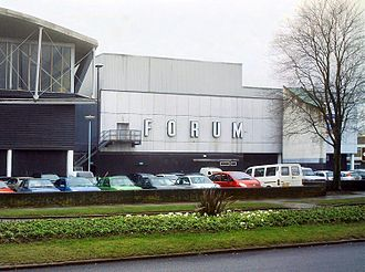 Billingham - Billingham Forum, housing a theatre and sports facilities as it appeared before the 2009 renovations.