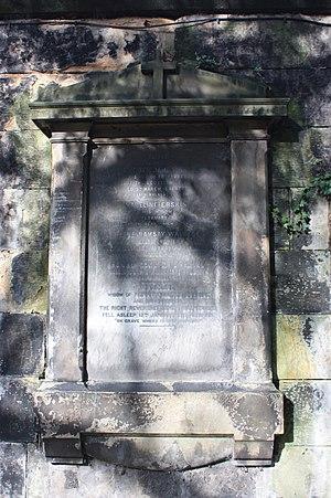 James Walker (bishop) - Walker's grave at St John's Edinburgh
