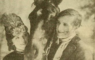 Black Beauty (1921 film) - Still with Paige and Morrison from Photoplay magazine