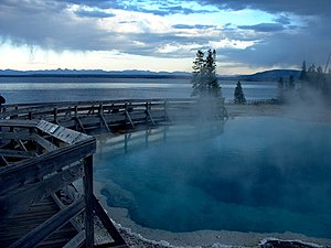 Black Pool - Image: Black Pool and Yellowstone Lake