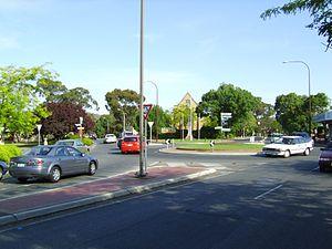 Blackwood, South Australia - Blackwood Roundabout looking South-East, January 2012