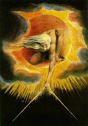 "William Blake's etching/watercolour ""Anci..."