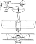 Bleriot-SPAD S.61 3-view Aero Digest August,1930.png