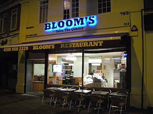 Kosher restaurant - Until its last branch closed in summer 2010, Bloom's restaurant was the longest-standing kosher restaurant in England.