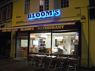 Kosher restaurant - Until its last branch closed in summer 2010, Bloom's restaurant was the longest-standing kosher restaurant in England.