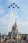 Blue Angels fly over Cinderella's Castle.jpg